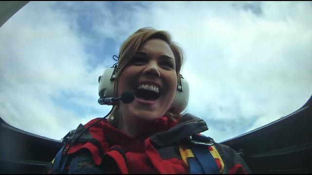 WDRB reporter Rachel Collier was Werth's passenger