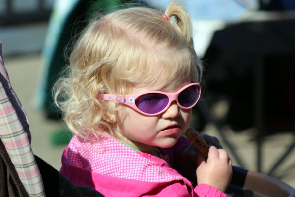 Looking cool with some shades -- just perfect for the gorgeous Saturday afternoon. Perfect Thunder Over Louisville weather!