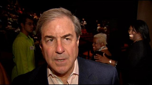 Congressman John Yarmuth was among Louisville leaders who showed up at the Kentucky Science Center on Main Street for the screening of a documentary about gun violence.