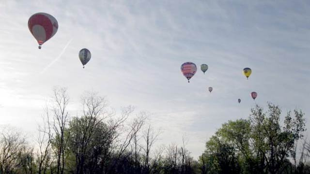 All eyes were on the sky for the Great Balloon Rush-Hour Race Friday morning.