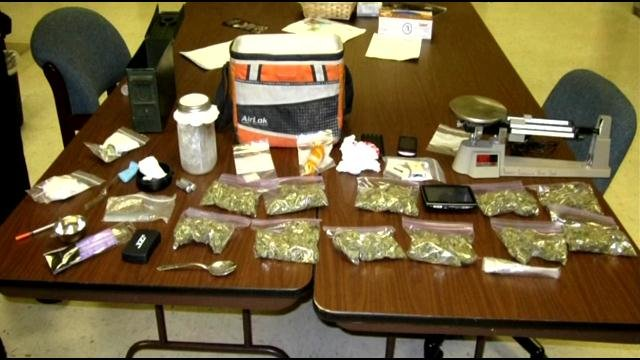 Drugs and paraphernalia Clarksville police say they seized in motel drug bust Saturday.