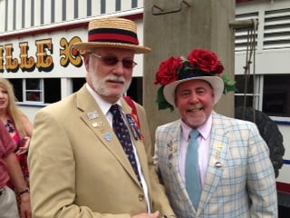 Anthony Head and Mike Ellis pull out all the stops for the Great Steamboat Race