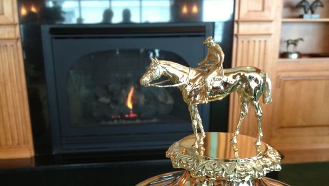 Detail of the Kentucky Derby winner's trophy, by Eric Crawford, WDRB.