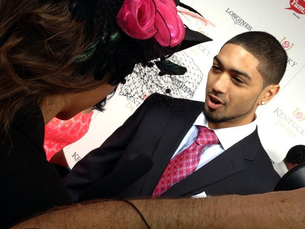 University of Louisville basketball player Peyton Siva on the Red Carpet.