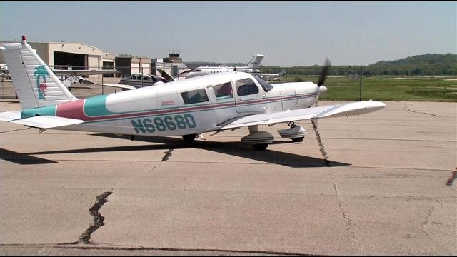 """A regional airline is encouraging its passengers to join the """"Mile High Club"""" in this aircraft, flown by Dave MacDonald of Flamingo Air."""