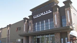 Cinemark's new 10-screen theater is located on the front side of the mall in the old Dillard's Men's store at Mall St. Matthews.