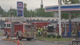 A fire at a gas station in Buechel had the intersection of Hikes Lane and Bardstown Road blocked for a time on Thursday, May 16, 2013.