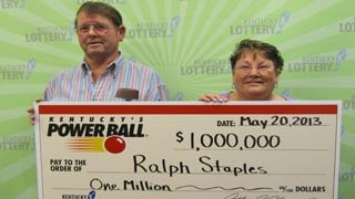 Powerball winner Ralph Staples and wife Tonkie.
