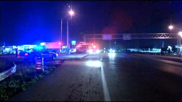 Police blocked the entrance ramp to I-64E from Hurstbourne Lane after a tractor-trailer crashed.