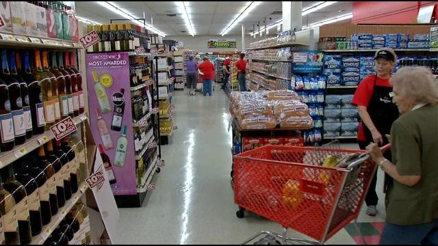 Shoppers looked for bargains inside the Cash Saver restaurant.