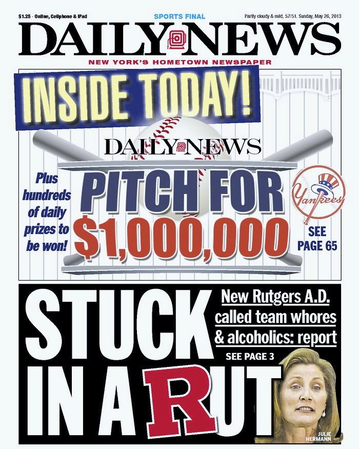 Former U of L assistant athletic director Julie Hermann made the front page of Sunday's New York Daily News -- and not in a good way.