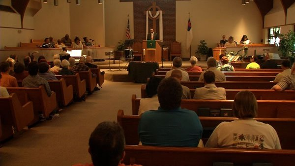 An interfaith Memorial Day service held Monday morning at the Westwood Presbyterian Church on Greenwood Avenue, near Southwestern Parkway.