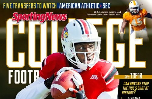 Teddy Bridgewater is featured on the local edition of The Sporting News College Football Yearbook.