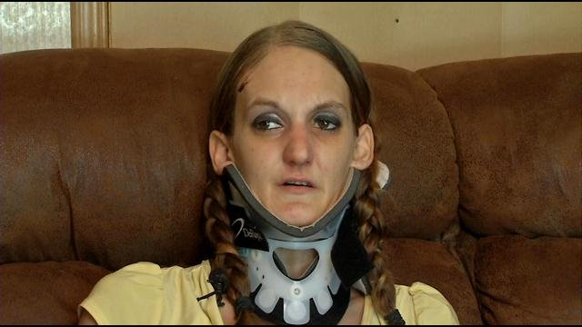 Jenevieve Elliott spent 19 days in the hospital. She suffered a broken neck, pelvis, ribs, a shattered heel and multiple cuts and bruises.