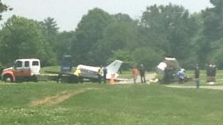 The plane was removed from the golf course on Wednesday afternoon