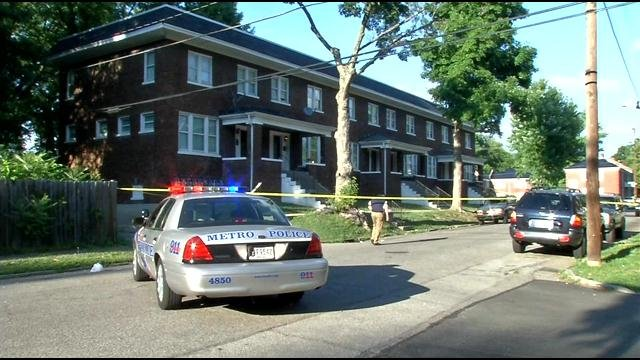 The victim was shot in the back outside her apartment on June 13. Police are still searching for the shooter.