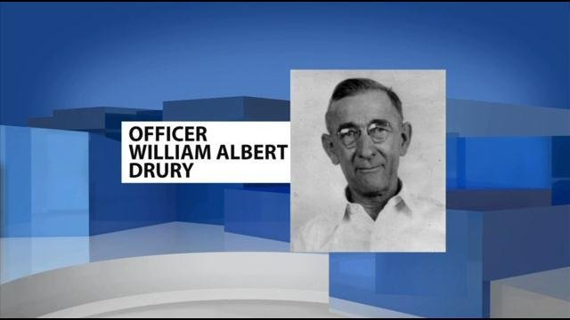 The FOP says it just found out six months ago that Officer William Albert Drury had died in the line of duty back in 1945.