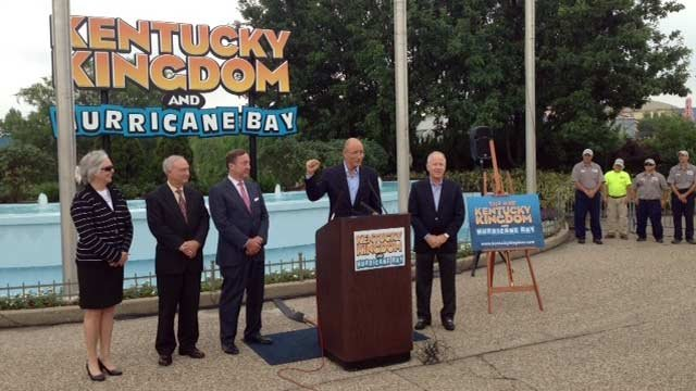 The group of business partners, led by Ed Hart, unveil plans to re-open Kentucky Kingdom