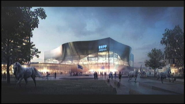 Artist's rendition of newly-renovated Rupp Arena