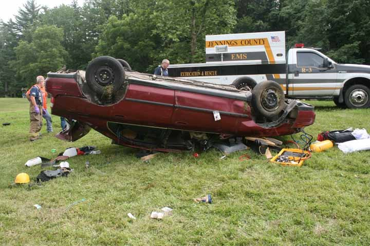 Indiana State Police say 24-year-old Steven C. Litzy was using his cell phone when his car left the road and flipped over.