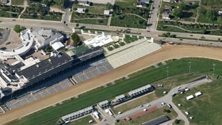 Aerial view of new Grandstand Terrace -- artist's rendering