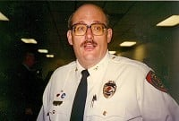 Retired Okolona fire chief Rich Carlson, approx. 1990 OFPD photo.