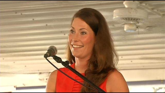 Kentucky Secretary of State Alison Lundergan Grimes opposed McConnell for what she says are obstructionist policies.