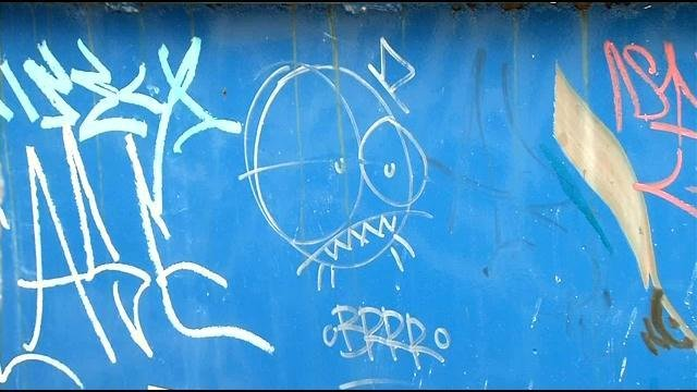 """Rodriguez claims he is the graffiti artist behind the infamous """"BRRR"""" tags scattered throughout Louisville."""