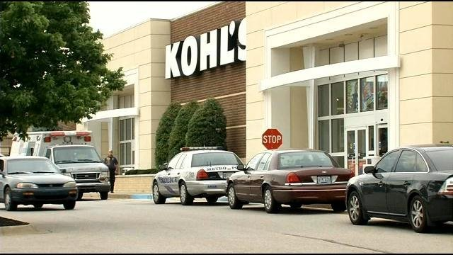 LMPD officials say an infant was found dead in the bathroom of this Kohl's on Standiford Plaza Drive.