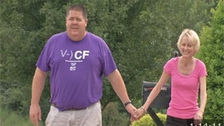 Julie Ice credits the support of her husband Roy in fighting Cystic Fibrosis.