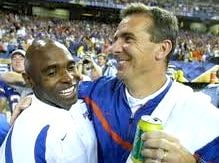 Urban Meyer (right) says that Charlie Strong is the best coach in college football.