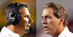 Who are the 10 best coaches in college football? The list starts after Nick Saban (right) and Urban Meyer.