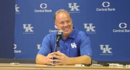 © UKathletics.com photo. Mark Stoops at UK's media day.
