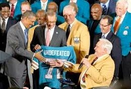 Howard Schnellenberger (far right) had a Hall of Fame moment at the White House last week.