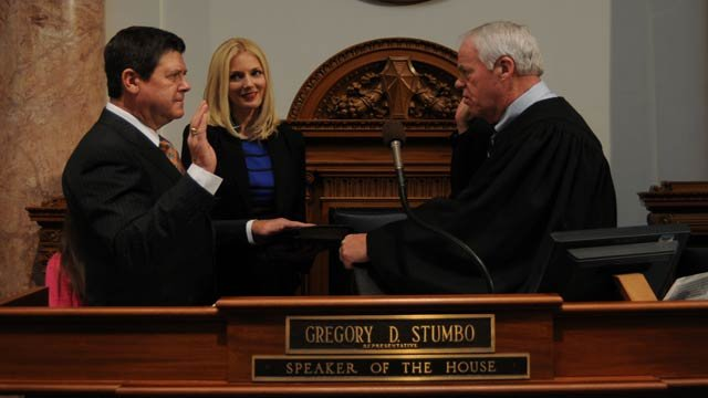 Rep. Greg Stumbo at his swearing-in ceremony. Stumbo says the allegations against Rep. John Arnold have become a distraction.