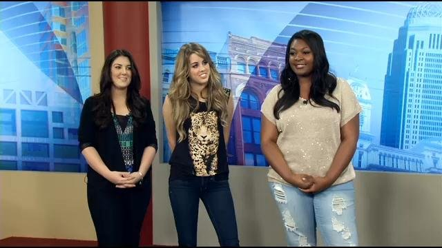 Idol winner Candice Glover and runners up Kree Harrison and Angie Miller
