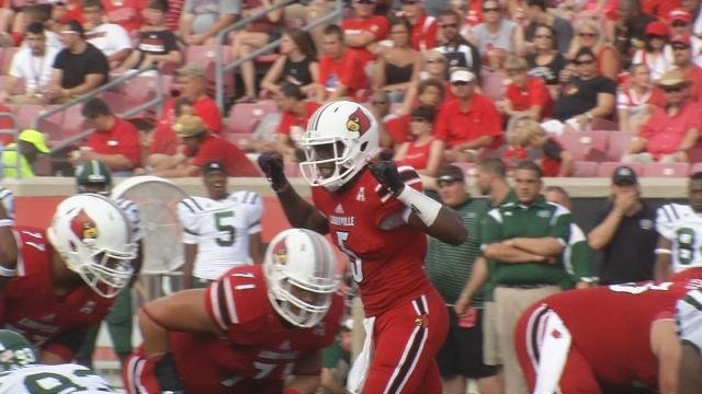 Teddy Bridgewater makes a pre-snap check in the 3rd quarter Sunday against Ohio.