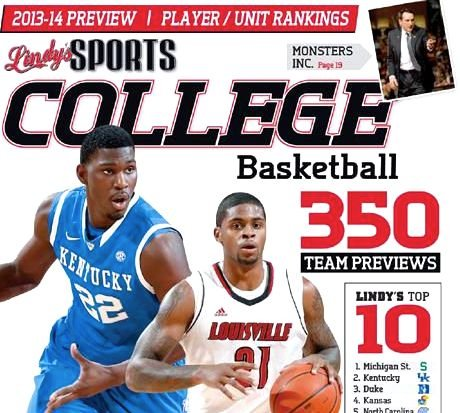 Louisville figures to be ranked no lower than third to start the college basketball season, but Lindy's has the Cards seventh.