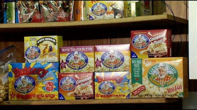 There are dozens of varieties of Cousin Willie's Popcorn on store shelves