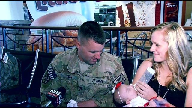 Spc. Jimmy Eves and his wife, Jennifer, will be celebrating their wedding anniversary on Sept. 26.