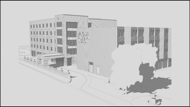 This rendering shows what Wayside will look like after its planned expansion, which will feature a gym, added classrooms and more beds.