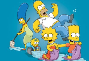 The Simpsons top the list, as they enter their 25th season