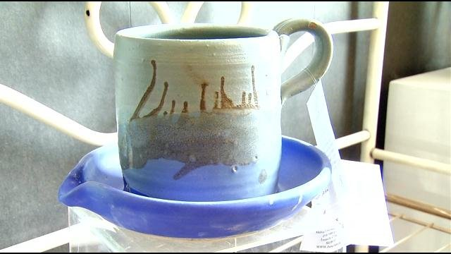 Some of the finished pottery created by Melvin Rowe