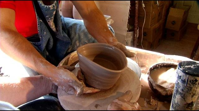 Sterling Riggs discovers just how hard it is to sit behind the potter's wheel