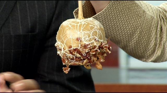 Behold!  The bacon carmel apple!