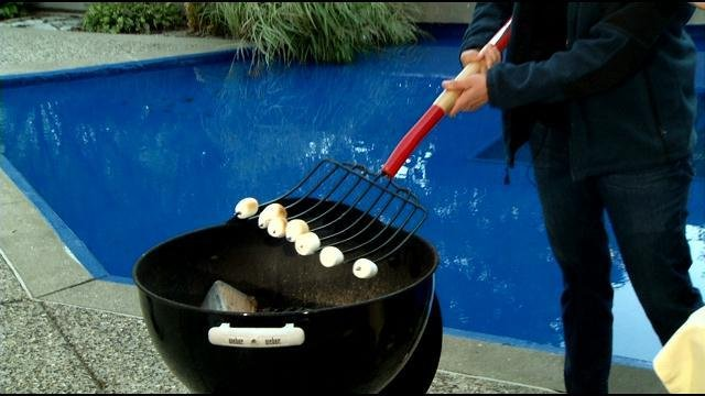 Cooking for a crowd with a rake!
