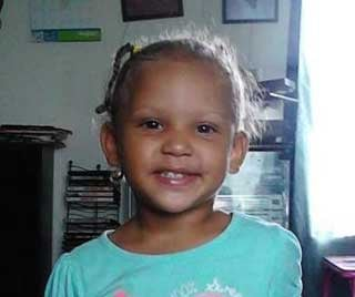 Jaylynn Maxey, 2, subject of now-canceled Amber Alert.  Police found her safe early Wednesday near Upton, Ky.