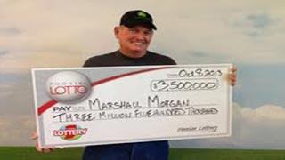 Marshall Morgan, Hoosier Lotto winner