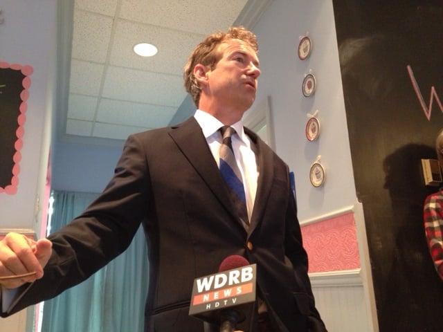 Sen. Paul addresses constituents in Bardstown, Ky.