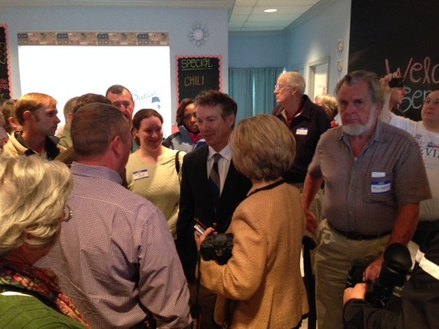 It was a packed house Wednesday as Sen. Paul met with constituents at a Bardstown bakery